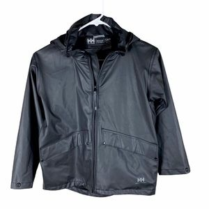 Helly Hansen boys size 8 black windbreaker
